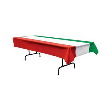 Tafelkleed rood wit en groen Italie