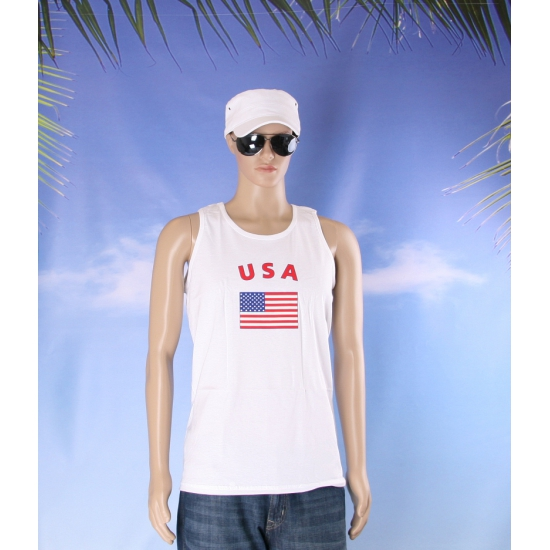 Tanktop met USA vlag print