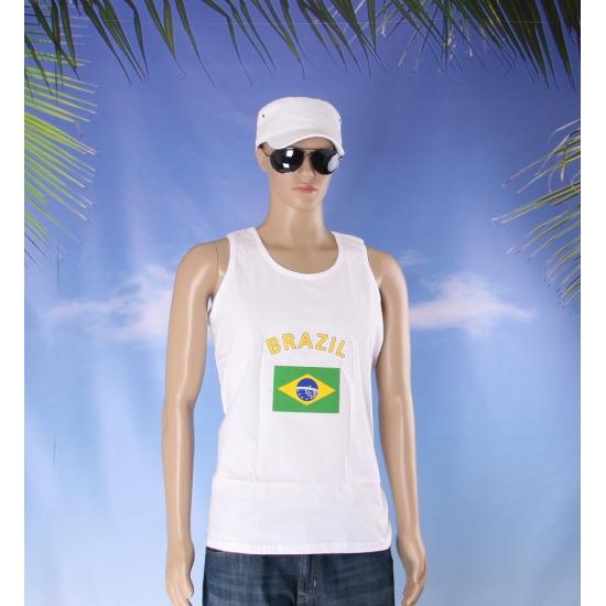 Tanktop met vlag Brazilie print