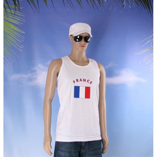 Tanktop met vlag Frankrijk print