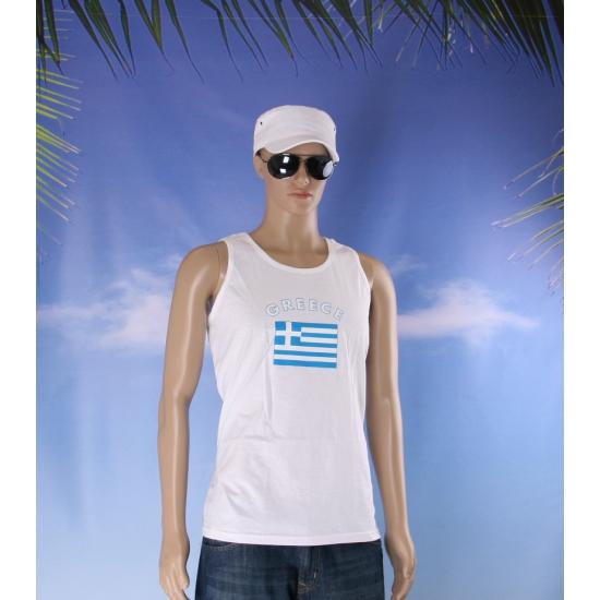 Tanktop met vlag Griekenland print