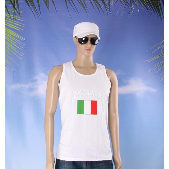 Tanktop met vlag Italie print