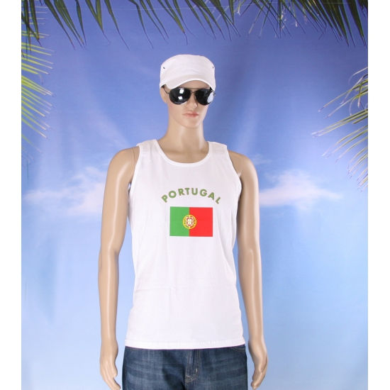 Tanktop met vlag Portugal print
