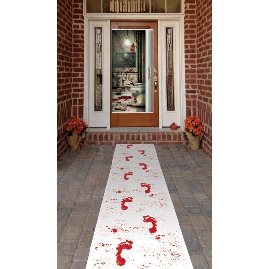 Thema lopers met bloederige voetafdrukken 60 x 300 cm