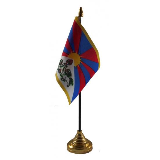 Tibetaanse tafelvlag met standaard