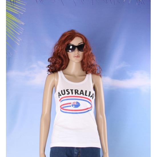 Top met vlaggen thema Australia dames