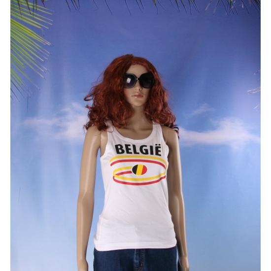Top met vlaggen thema Belgie dames