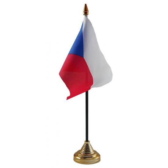 Tsjechie vlag met standaard