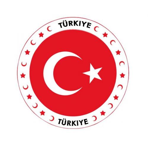 Turkije vlag print bierviltjes