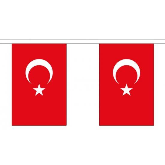 Turkije vlaggenlijn van stof 3 m