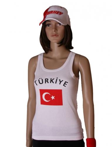 Turkse vlag tanktop  singlet voor dames