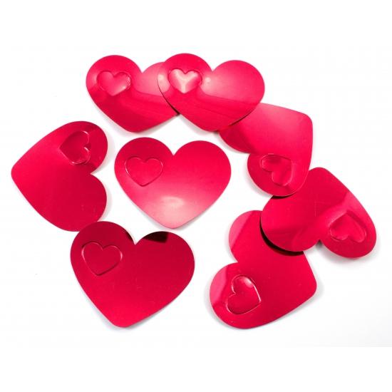 Valentijn confetti rode hartjes XL