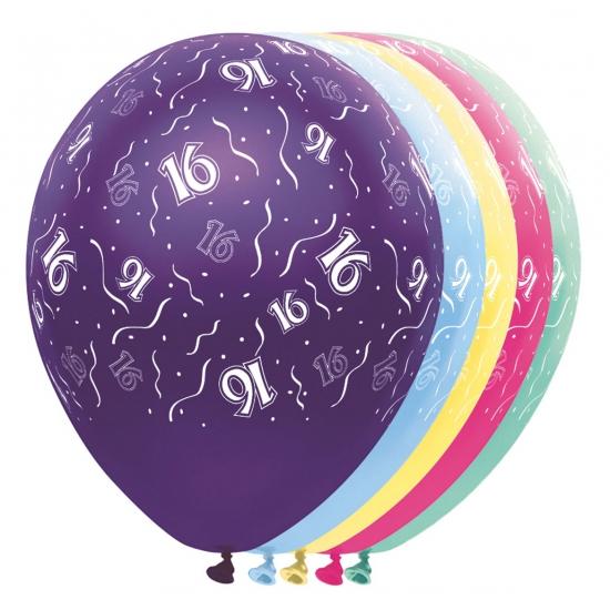 Verjaardag 16 jaar helium ballonnen