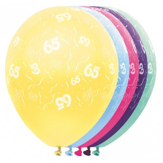 Verjaardag 65 jaar helium ballonnen