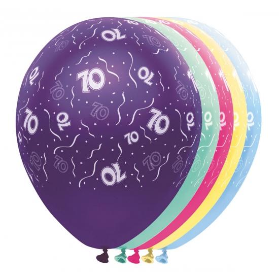 Verjaardag 70 jaar helium ballonnen