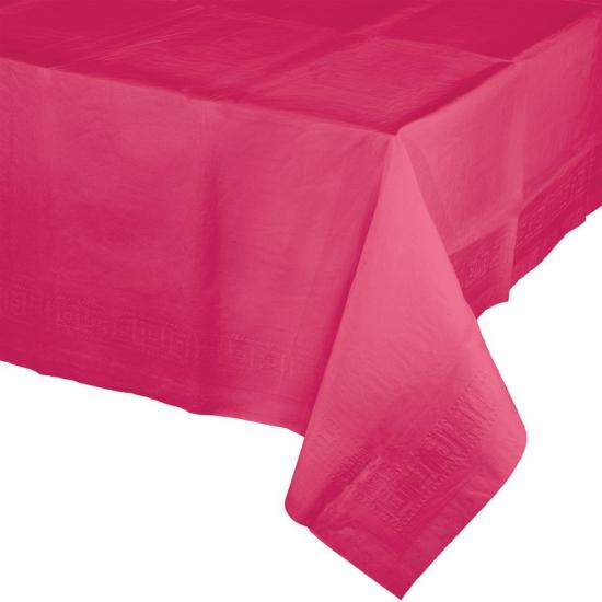 Verjaardag tafellaken fuchsia roze
