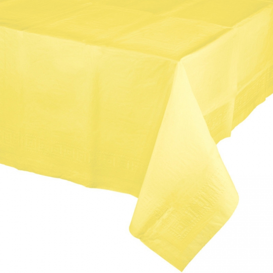 Verjaardag tafellaken geel