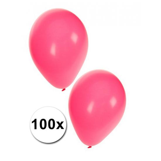 Versierings ballonnen roze, 100 st