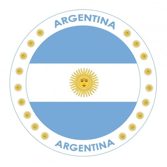 Viltjes met Argentini  vlag opdruk
