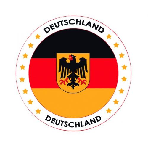 Viltjes met Duitse vlag opdruk