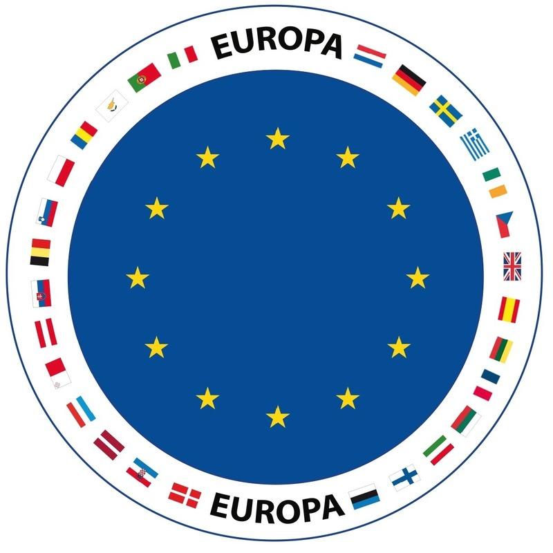 Viltjes met Europa vlag opdruk