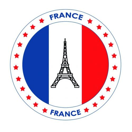 Viltjes met Frankrijk vlag opdruk