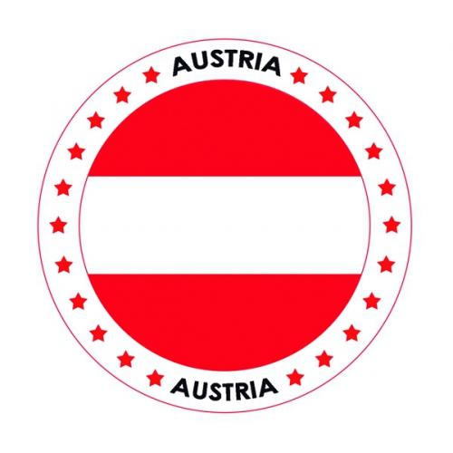 Viltjes met Oostenrijk vlag opdruk