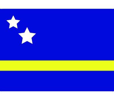 Vlag van Curacao plakstickers
