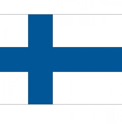 Vlag van Finland plakstickers
