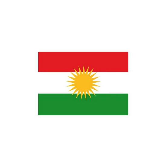 Vlag van Koerdistan plakstickers