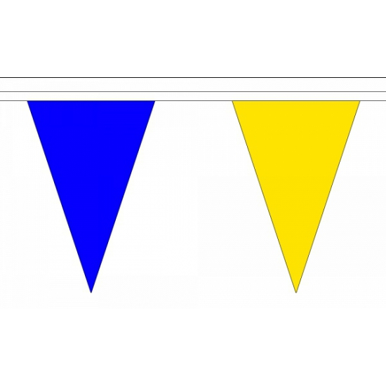 Vlaggenlijn blauw/geel deluxe