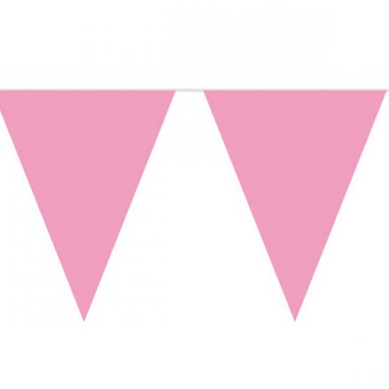 Vlaggenlijn effen baby roze