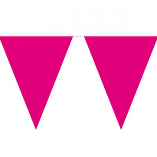 Vlaggenlijn effen donker roze