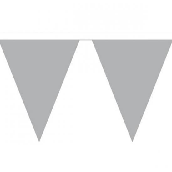 Vlaggenlijn in de kleur zilver 10 m