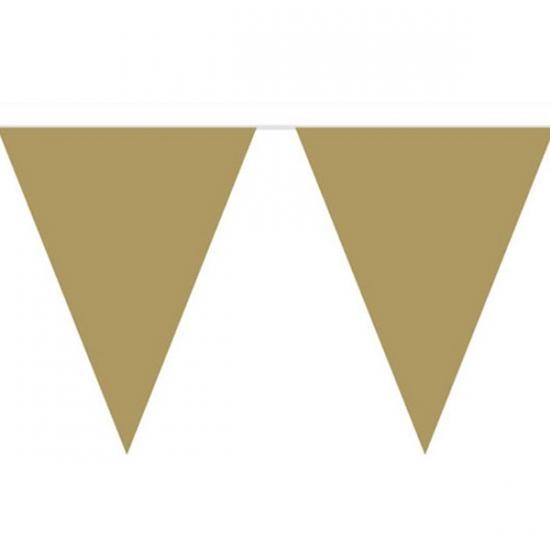 Vlaggenlijn met gouden vlaggetjes