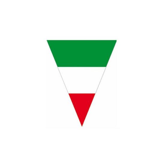 Vlaggenlijn met grote Italie vlaggen 10 meter