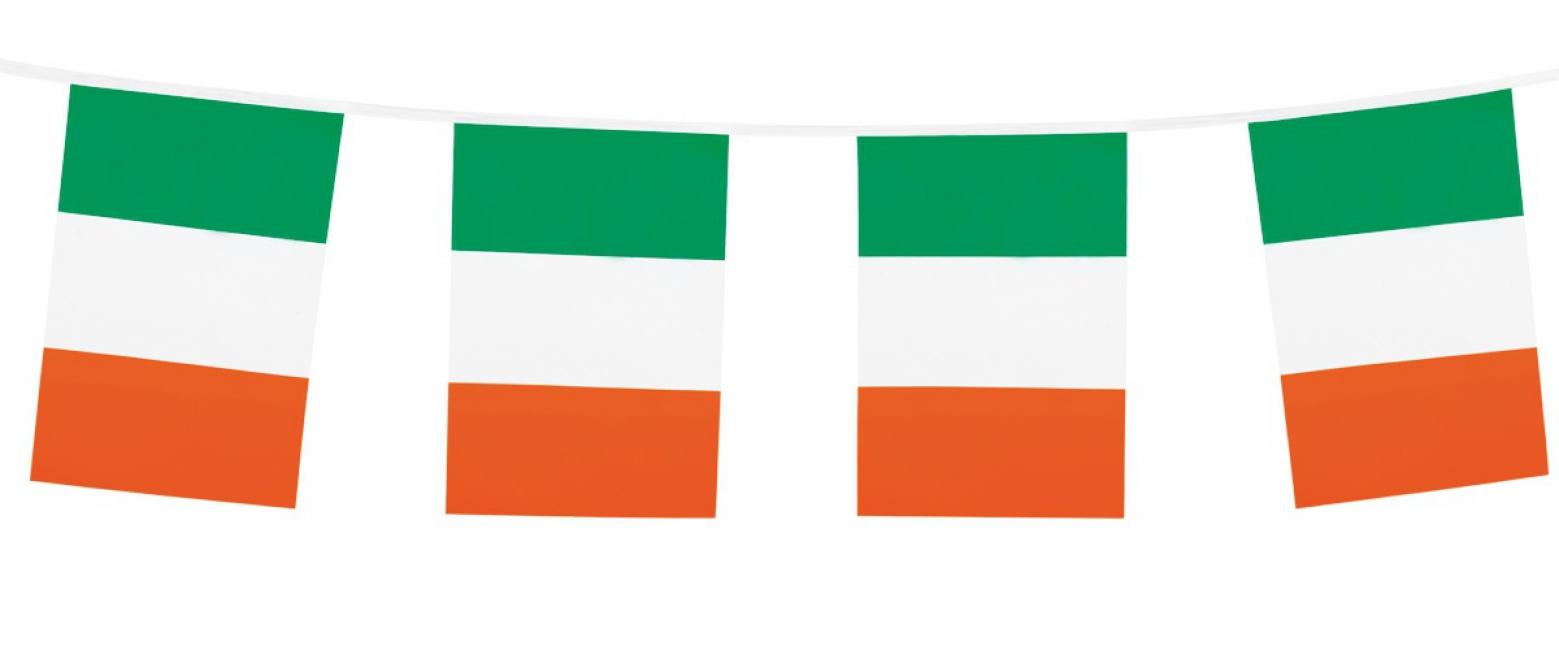 Vlaggenlijn met Ierse vlaggetjes 10 m