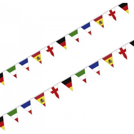 Vlaggetjeslijn EU landen 4 meter