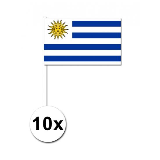 Voordeelpakket 10 handvlagen Uruguay