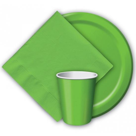 Wegwerp bekers groen 8 stuks