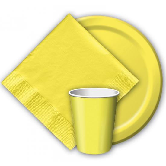 Wegwerp borden geel 8 stuks