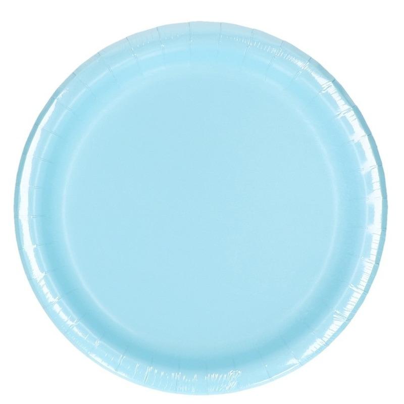 Wegwerp borden lichtblauw 8 stuks