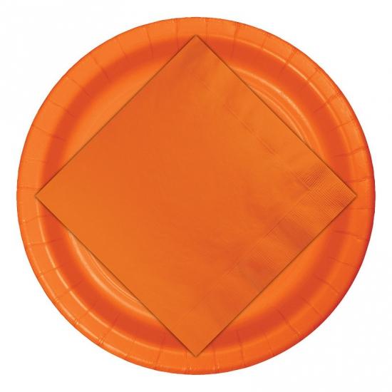 Wegwerp borden oranje 8 stuks