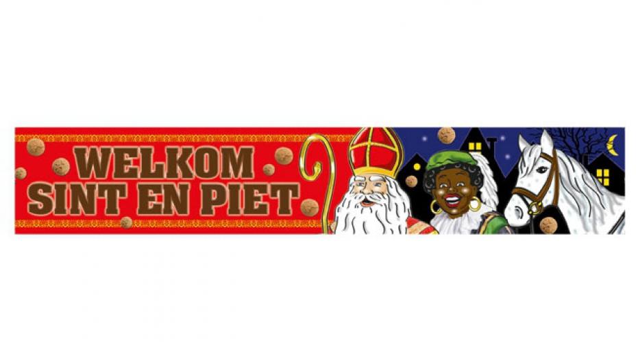 Welkom Sint en Piet banner 360 cm