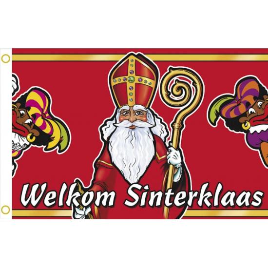 Welkom Sinterklaas gevelvlag