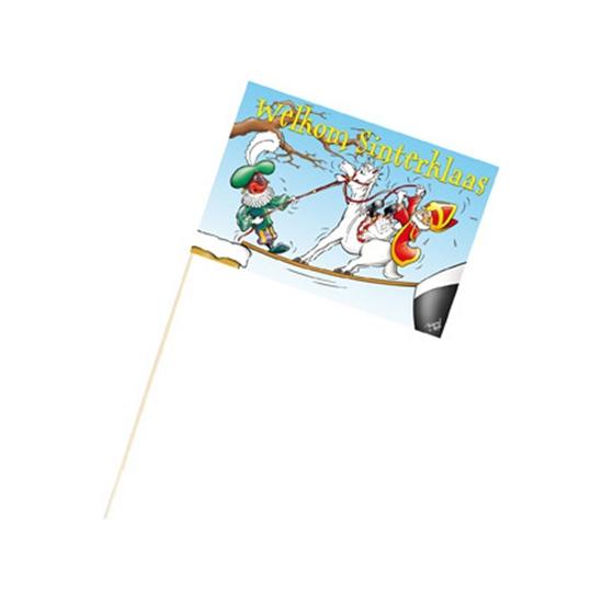 Welkom Sinterklaas zwaaivlag 27 x 17 cm