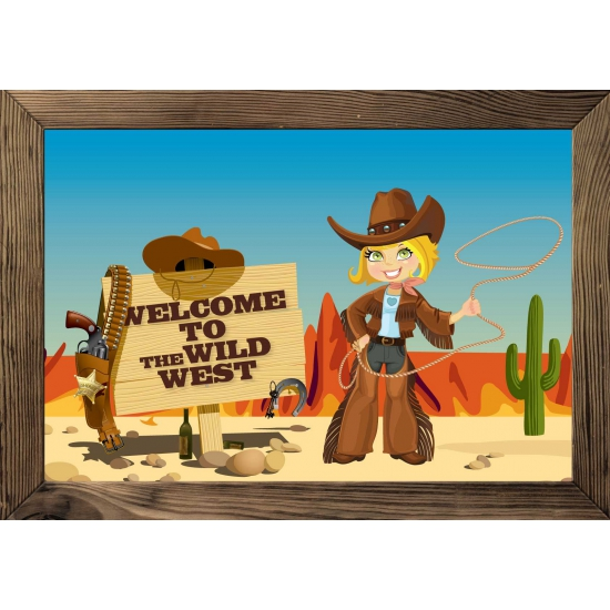 Wilde westen poster 59 x 42 cm