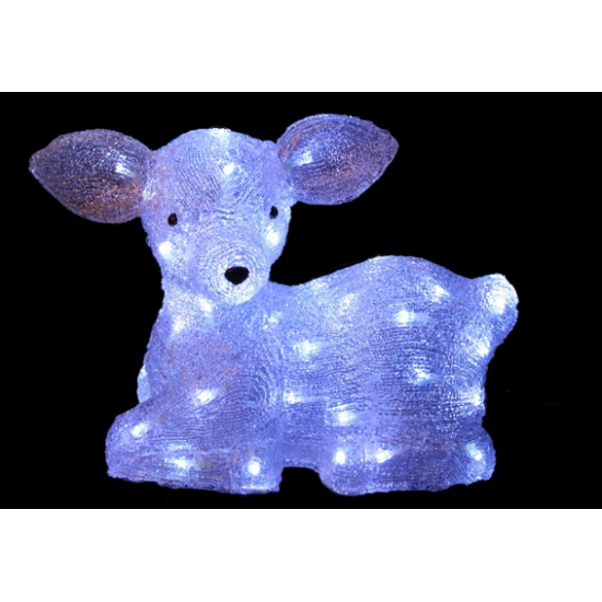 Wit hertje met LED lichtjes