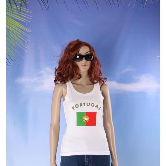 Witte dames tanktop Portugal