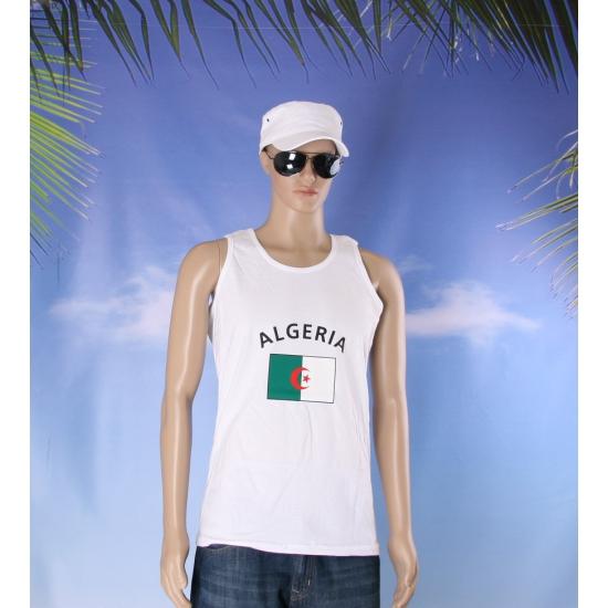 Witte heren tanktop Algerije